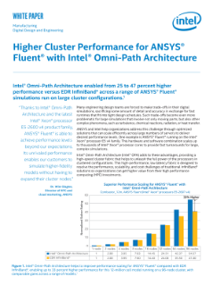 Higher Cluster Performance for ANSYS Fluent*