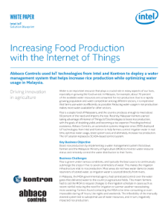 Increasing Food Production with the Internet of Things