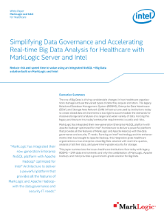 White Paper  MarkLogic and Intel  for Healthcare